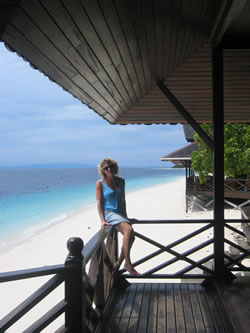 Mataking - the view from reception (Kate not included)