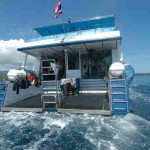 Ocean Rover Dive Deck seen from the water