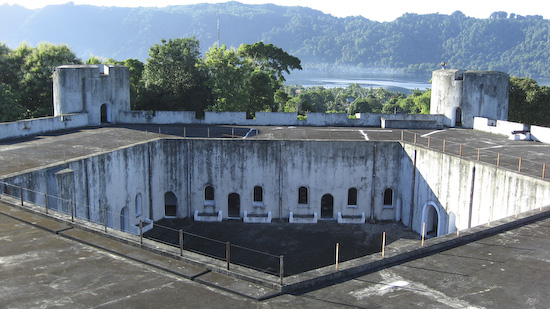 The Internal Pentagon Courtyard Of Fort Belgica on Banda Naira