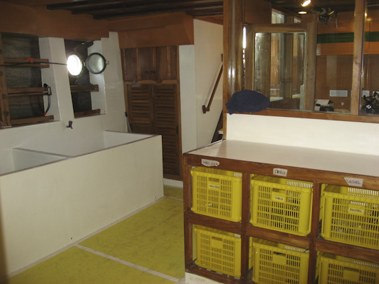 Tambora Liveaboard Gearing Up Area and Rinse Tanks
