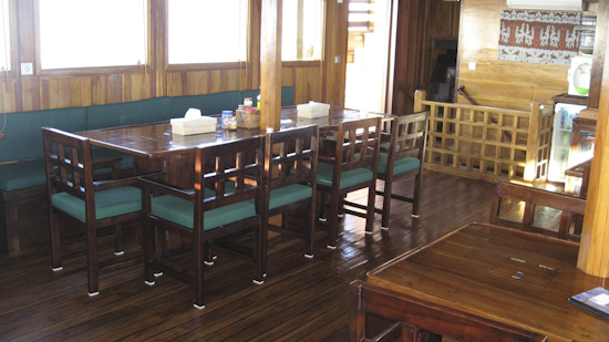 Tambora Liveaboard Dining Area