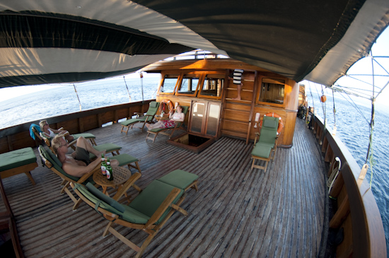 Tambora Liveaboard Main Deck Relaxing Area